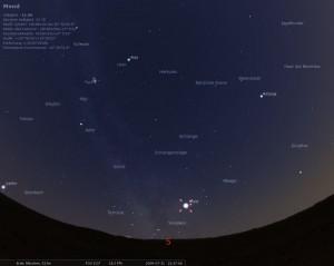 Stellarium zeigt den Himmel über München